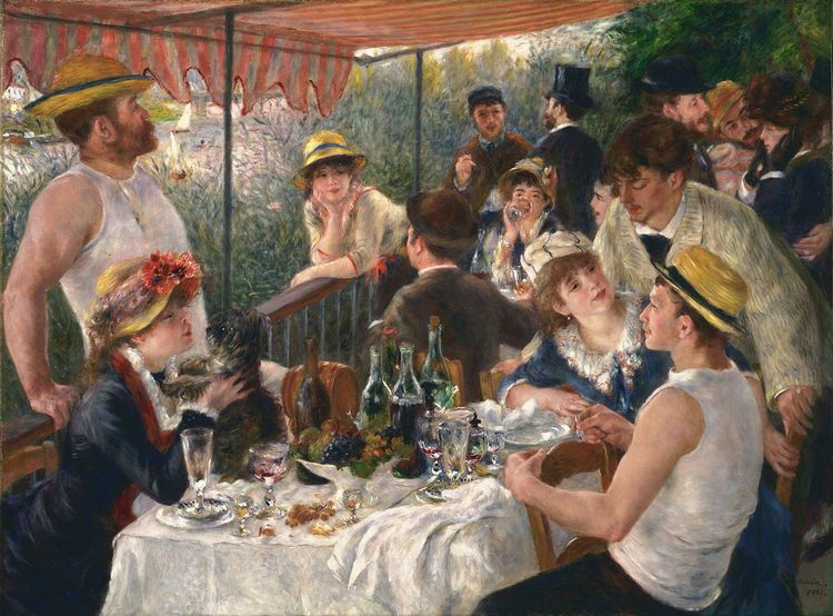 Pierre Auguste Renoir -Luncheon of the Boating Party - Wikipedia