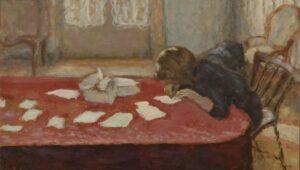 young woman writing | pierre bonard