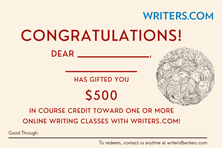 writers.com course credit