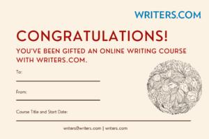writers.com gift certificate