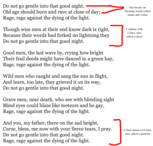 what is lineation in poetry?