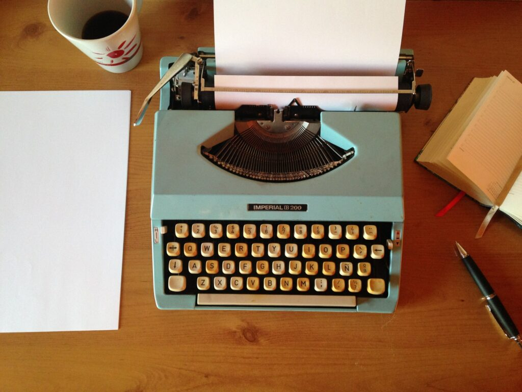 building a literary career on typewriter