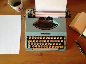building a literary career on typewriter