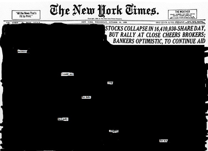 blackout poetry new york times