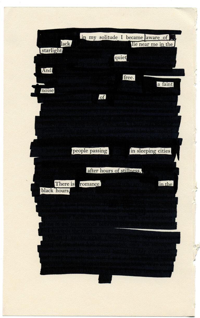 blackout poetry tyler knott gregson